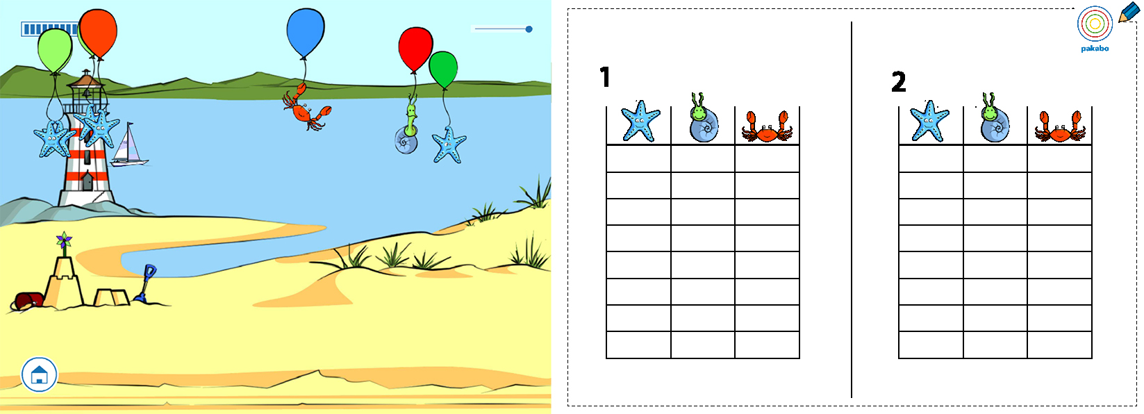 Table for the beach level.