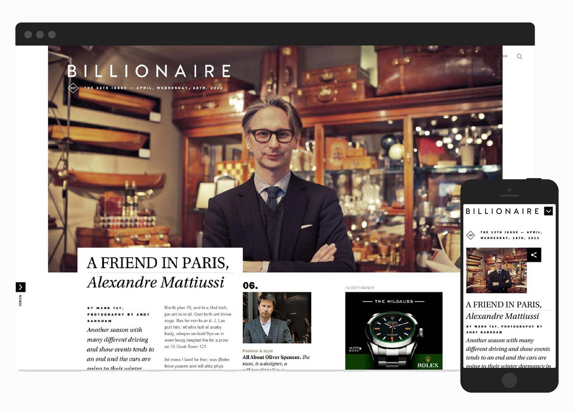 Billionaire.com       English  |  Mandarin