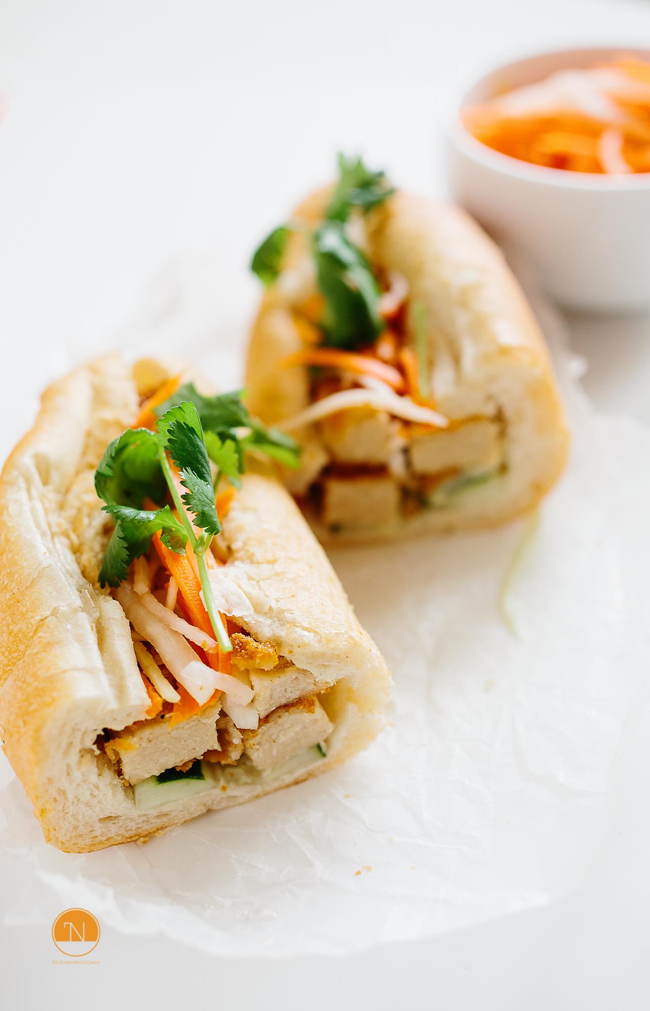 Vegetarian Vietnamese banh mi