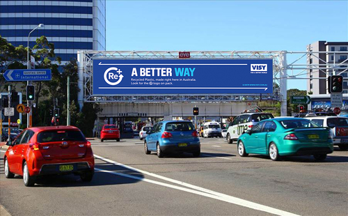 Re+ advertising in two key locations in Sydney and Melbourne