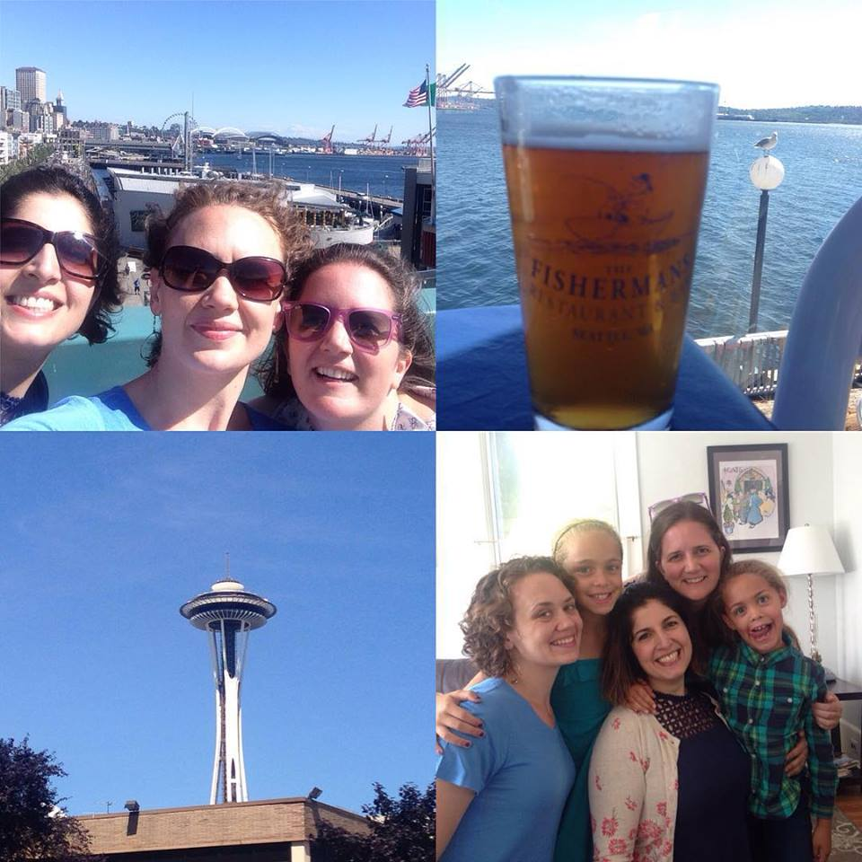 Scenes from a day off in beautiful Seattle!  We enjoyed a waterside beer and crystal-clear blue skies.  The breeze was cool, the sun was warm, and we had a perfect day.  The cherubs you see in the bottom-right photo are Eva and Maia, our wonderful hosts and dear buddies.  As you can tell from the photo, the girls are an absolute delight in every way.