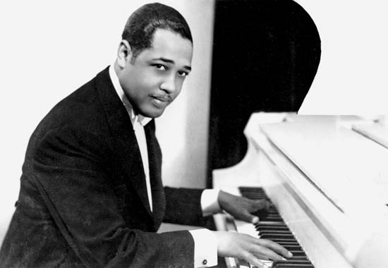 A very young (and handsome!) Duke Ellington, the composer of the first blues in Duchess' repertoire. Thank you, maestro.