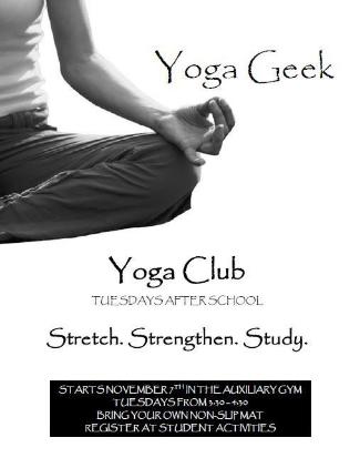 Yoga Club Poster