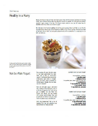 Healthy Eating Cookbook Pages (Ghostwriter)