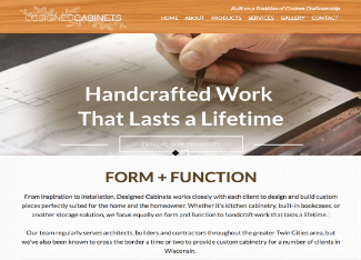 Designed Cabinets Website Copy