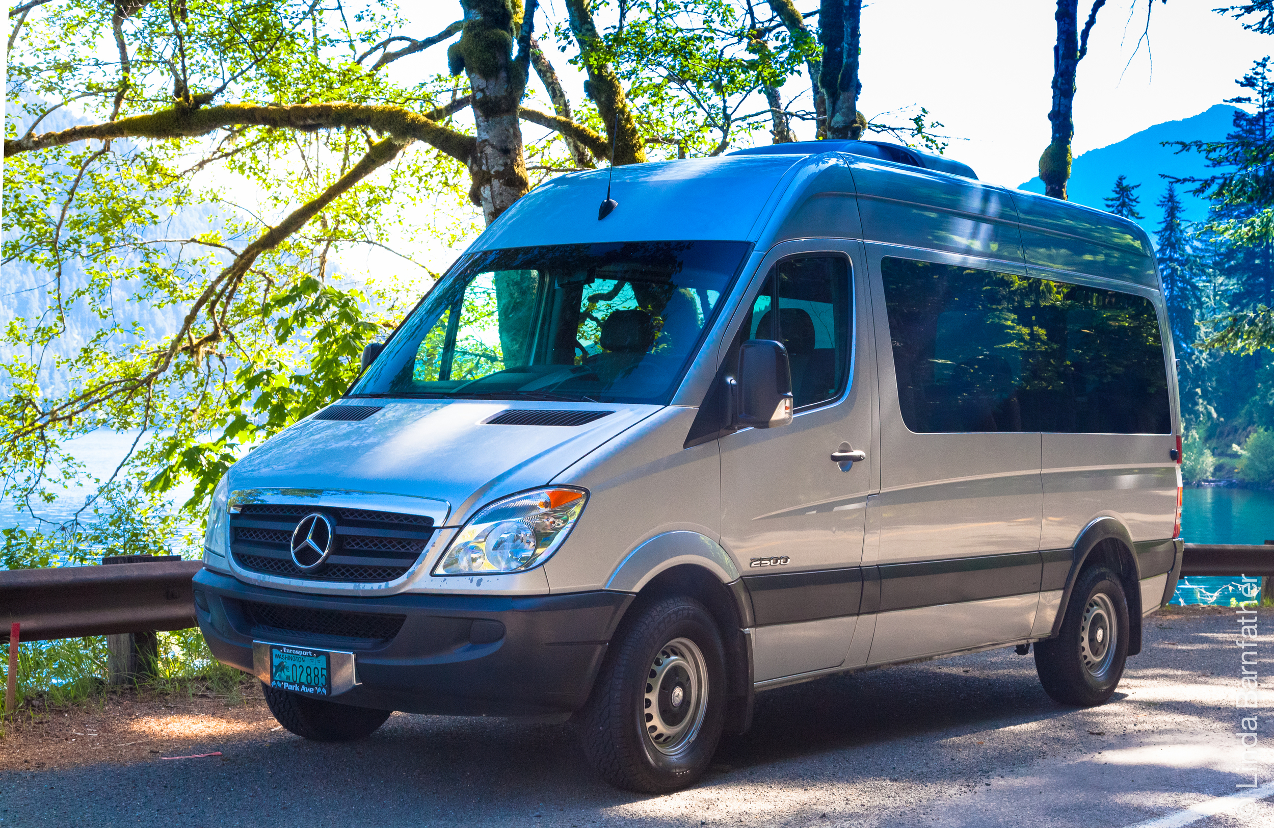 Our Van at Lake Crescent