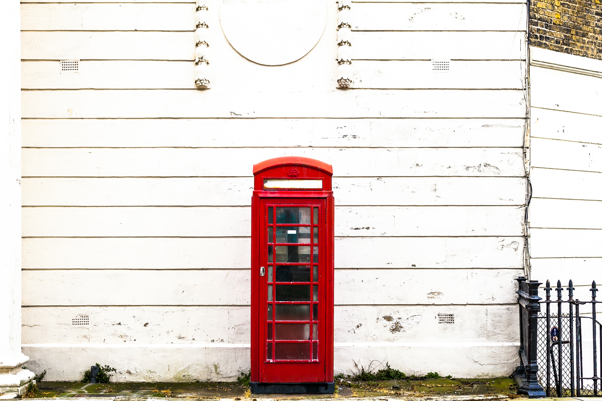 The once prevalent and iconic British K2 phone booth sits deserted on a back street of Dover UK