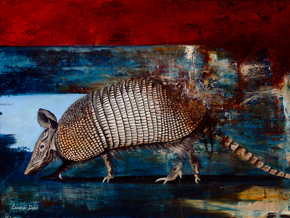 "Armadillo  12"" x 16""  Oil on Canvas Panel  2016  SOLD"