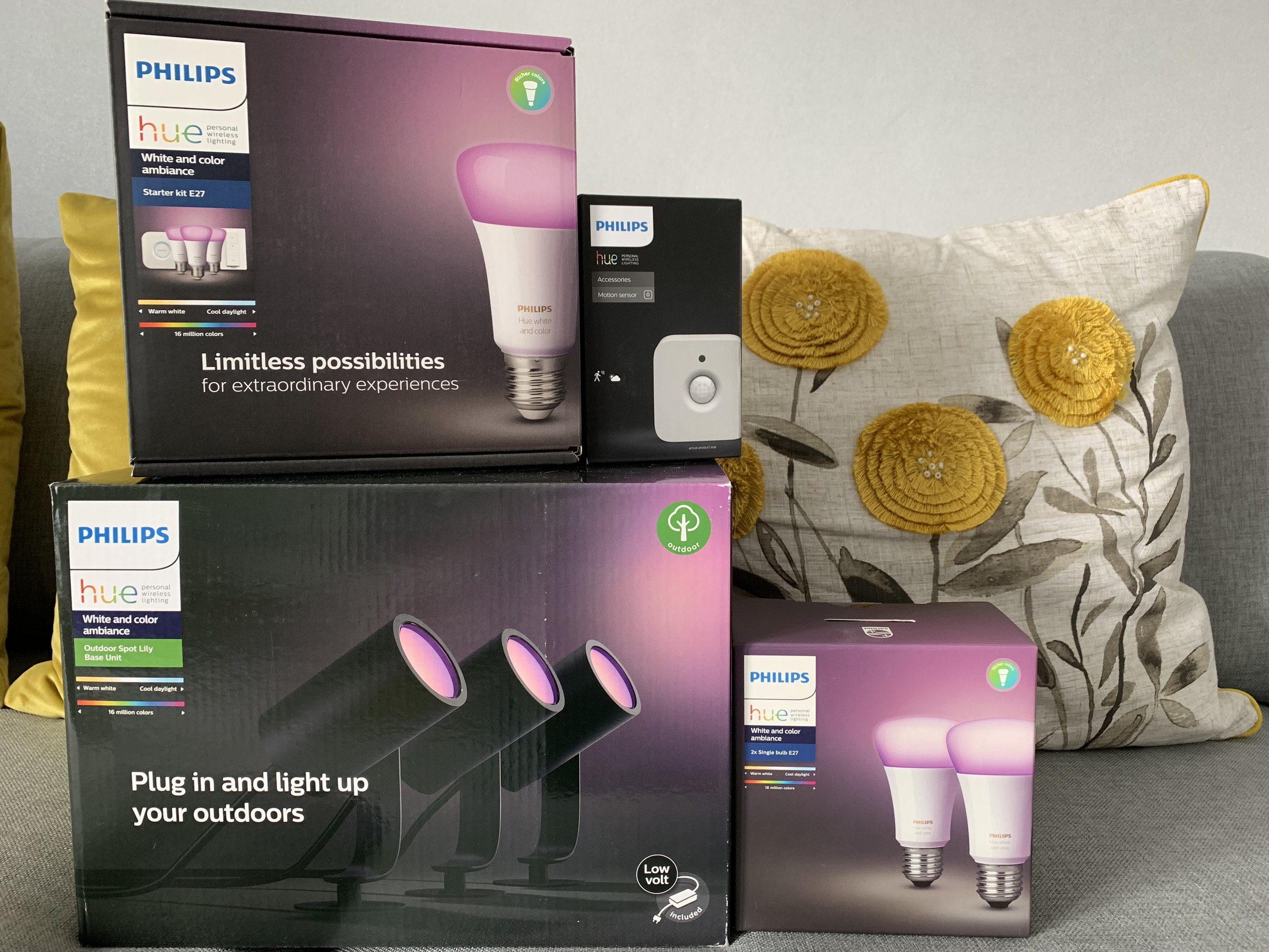 Philips Hue Range of Smart Indoor & Outdoor Bulbs