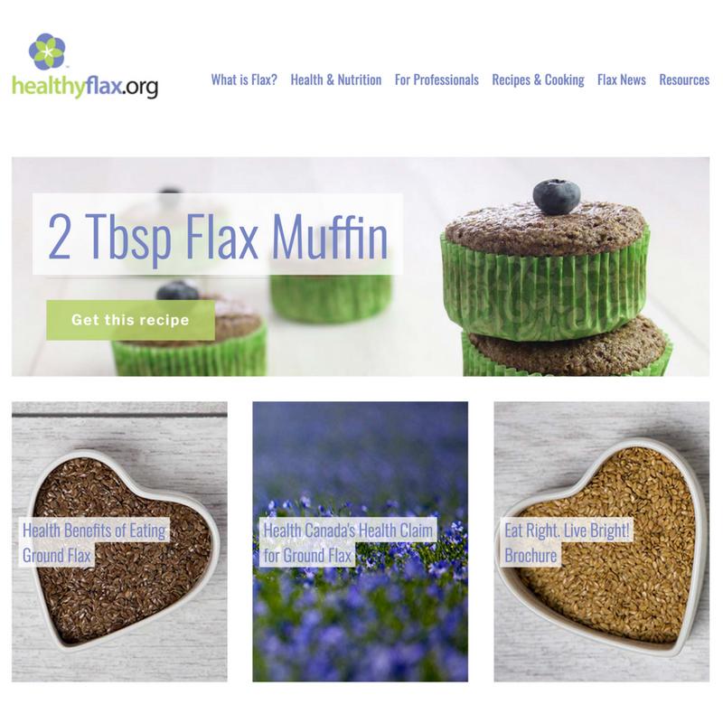 HealthyFlax Website Launch