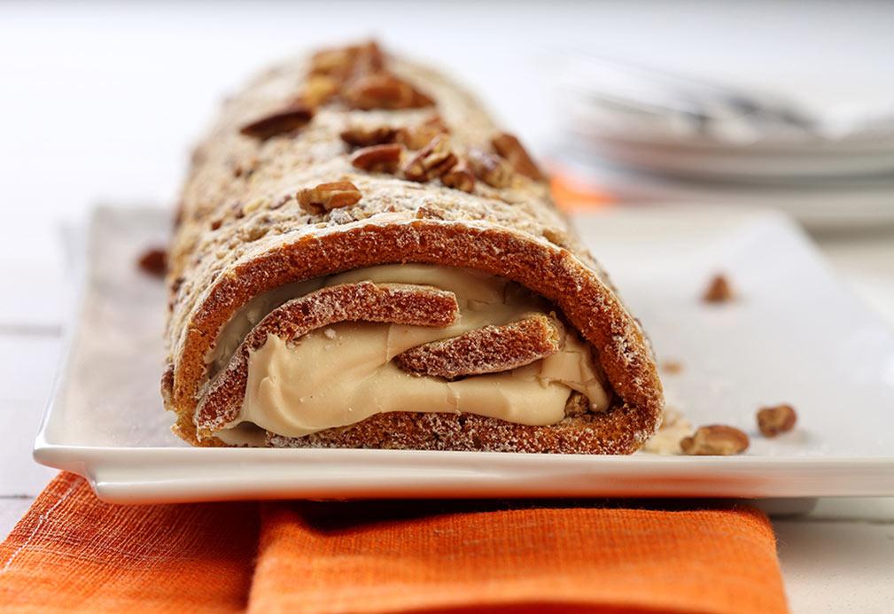 Pumpkin Pecan Cheesecake Recipe courtesy of canolainfo.org
