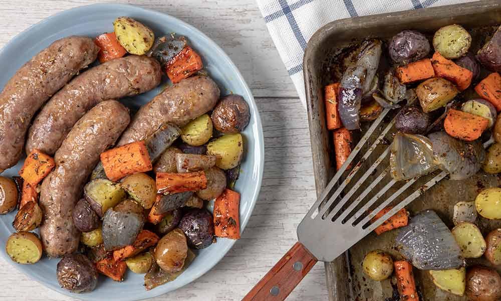Italian Pork Sausage Sheet Pan Dinner