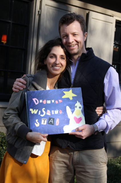 Jeff and Libby with Dharma's Wishing Star