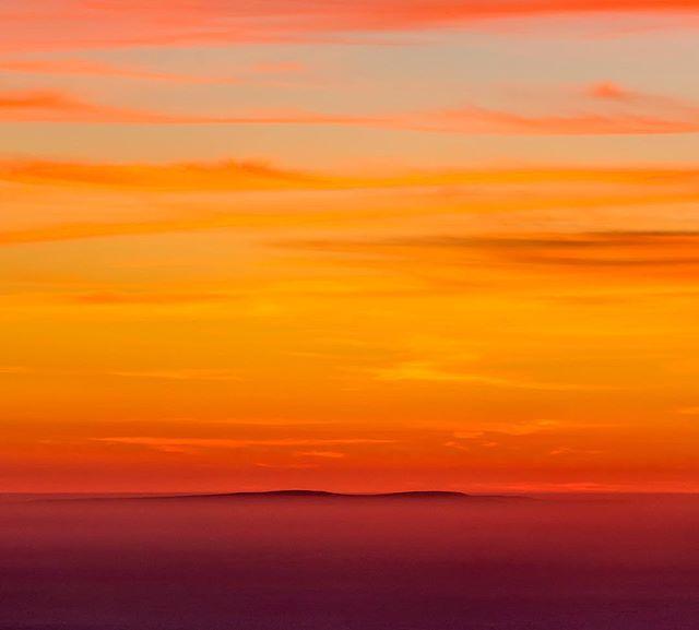 San Miguel Island, blending into an autumn sunset