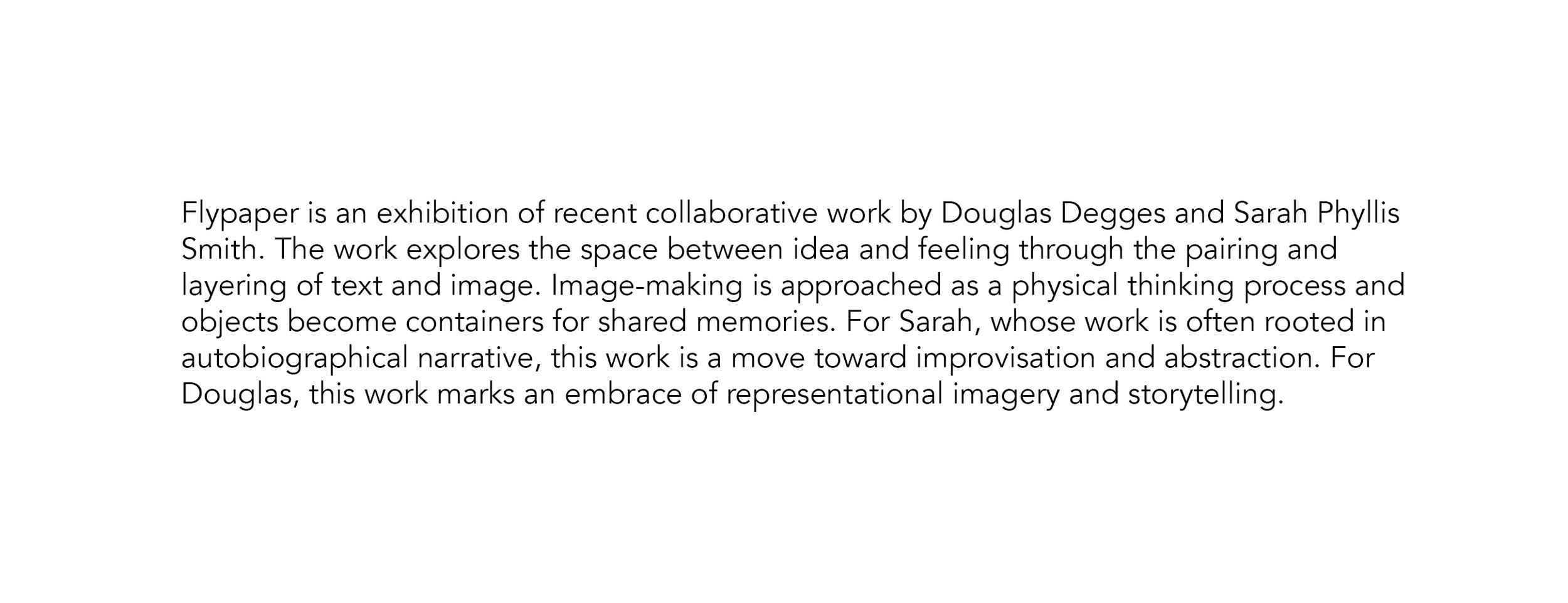 Flypaper Exhibition Statement