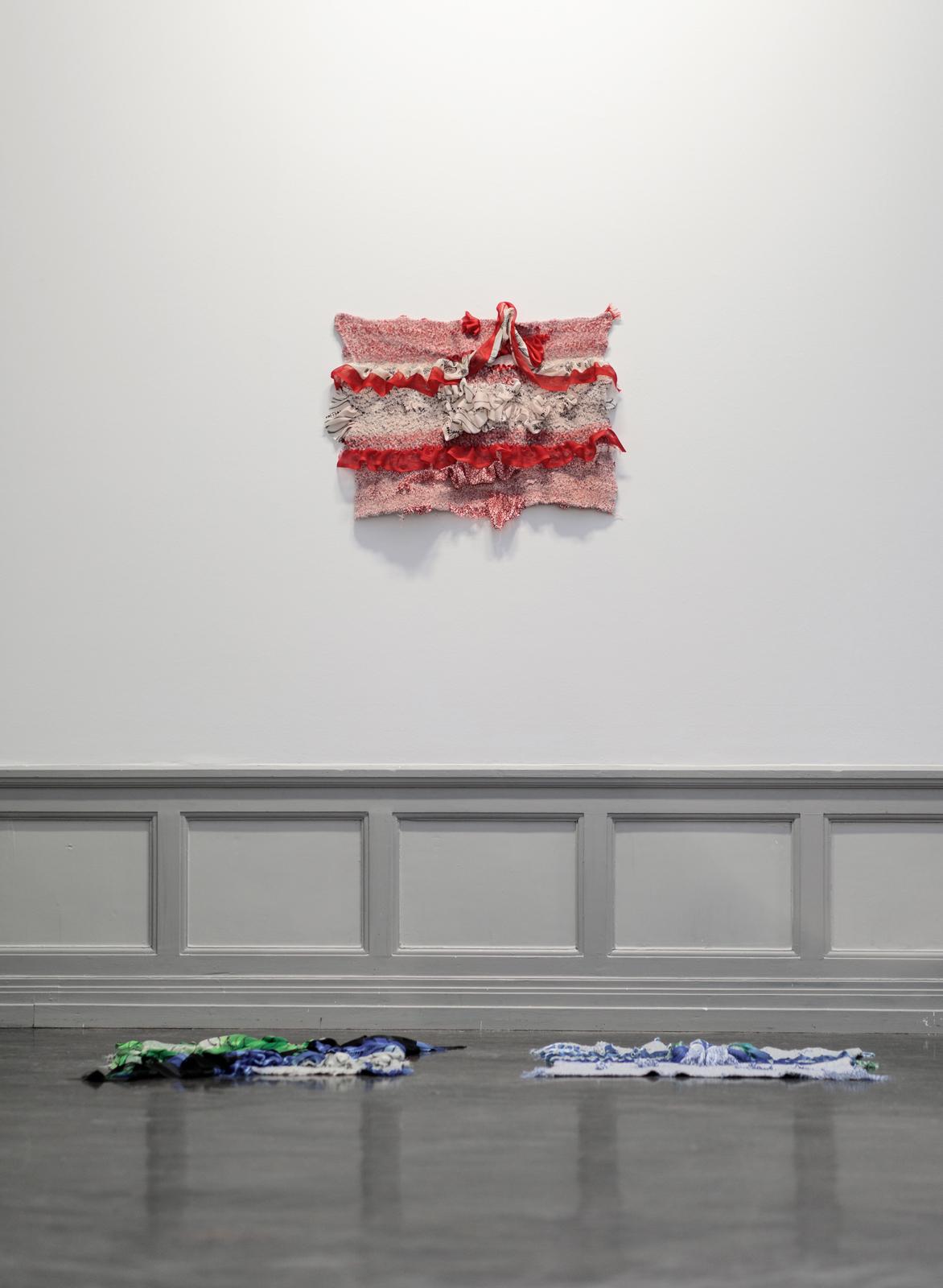 Guys Next Door, Installation image from the group exhibition Ode til Vaskeklut, Hymne til en Tiger, Kunsthall Stavanger, January 2018 - Photo: Oddbjørn Erland Aarstad