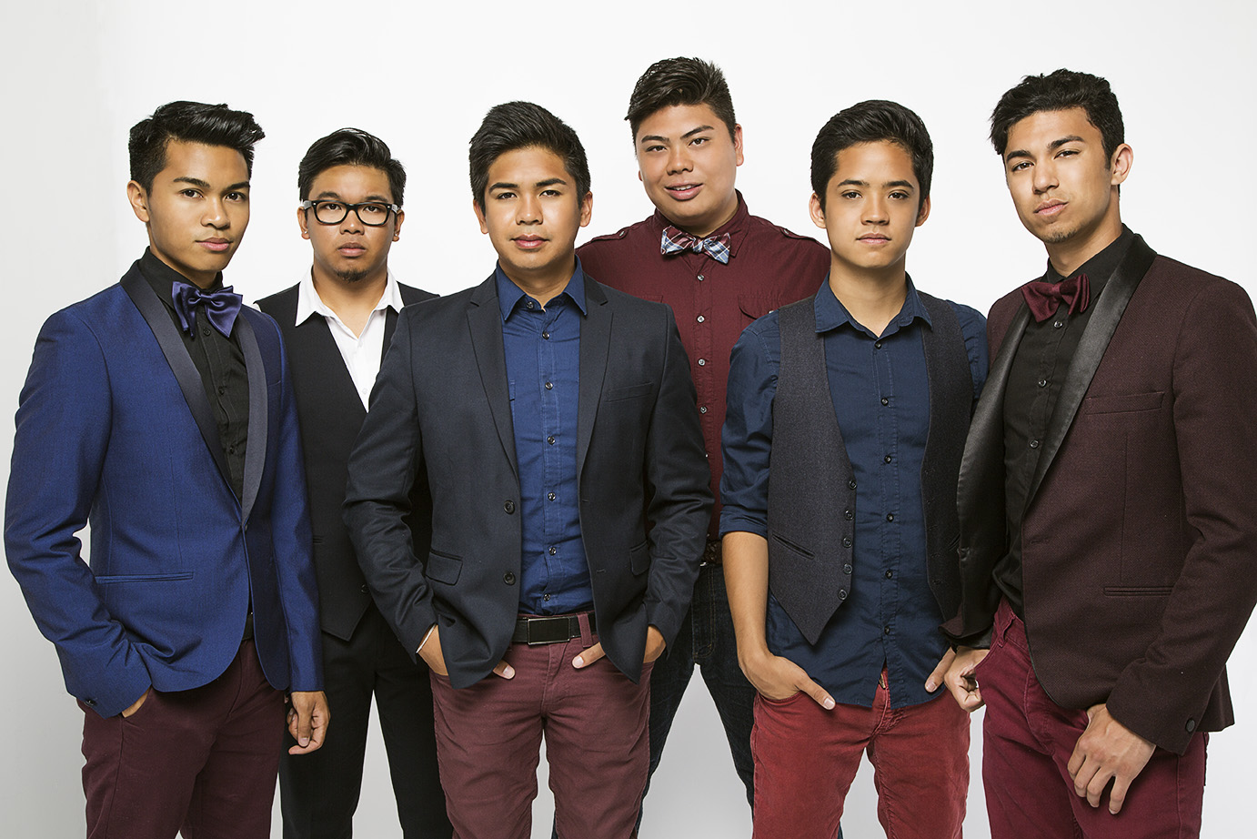 """The Filharmonic, a boy band unique in their musical talent and cultural diversity.The group of Filipino-American youngsters who were featured in NBC's hit musical competition, """"The Sing-Off"""", has much to sing about. Making the semi-finals, finishing the first """"Sing-Off"""" National tour, sharing the stage with The Black Eyed Peas and Pentatonix, then being part of the movie Pitch Perfect 2 is only the kick-off to their amazing journey!They consist of six members: Vocalists VJ Rosales, Joe Caigoy, Trace Gaynor, and Barry Fortgang, Vocal Bass Jules Cruz, and Beat boxer Niko Del Rey.Their melodic vocal style exemplifies an urbanesque hip hop sound with 90's nostalgia."""