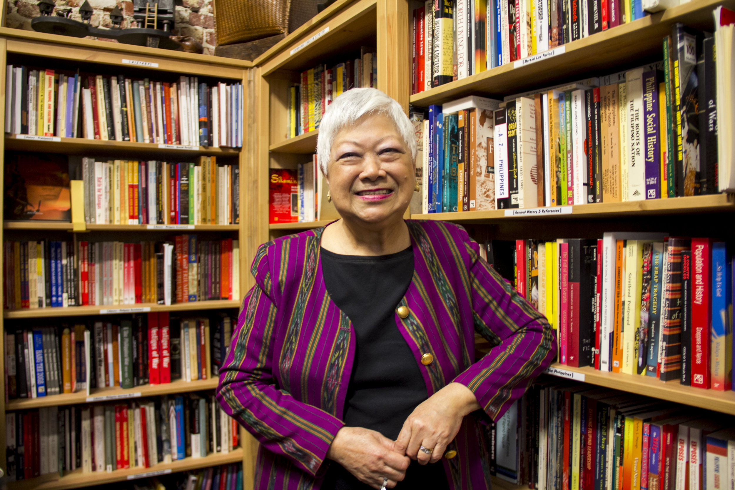 Linda Nietes-Little, founder of the Philippine Expressions Bookshop.