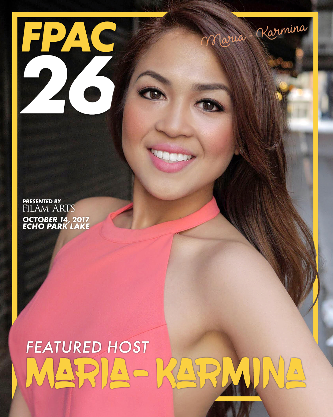 """Maria-Karmina - Born in the Philippines, Maria-Karmina came to the U.S. at age three and was taught from early on by her father that everything was possible; but, as an immigrant, she often felt like an outsider. When she found her parents' typewriter and began to write, Maria-Karmina discovered the thing that made her feel like she belonged: telling people's stories and later becoming a journalist. Today, as a the """"Official Face"""" and Host of Myx TV -- a multicultural cable network that caters to Asian-Americans -- Maria-Karmina has her sights set on becoming a household name despite the odds. You can find her preaching about the power of vision, how she slept on her friend's couch for months, determined to break into journalism and overcoming prejudice to follow your dream no matter what limitations others put on you. The power of imagination and vision. Her advice for breaking into journalism. Faking it until you make it. Why your journey may include some twists and turns. Speaking your dream into existence. Understanding the law of attraction. Recognizing how powerful your words are. The importance of having love in your life. That is what she represents.Maria-Karmina's Website@mariakarmina"""