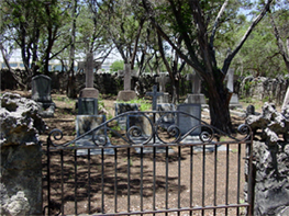 Jack Howard's grave in the family graveyard at Ten Oaks.