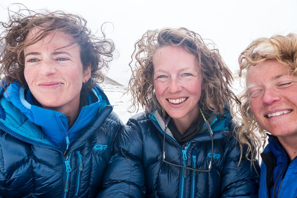 Ali, Kate, and Rebecca flaunting stylish Borderski hairdos during the 2015 expedition. Fresh!