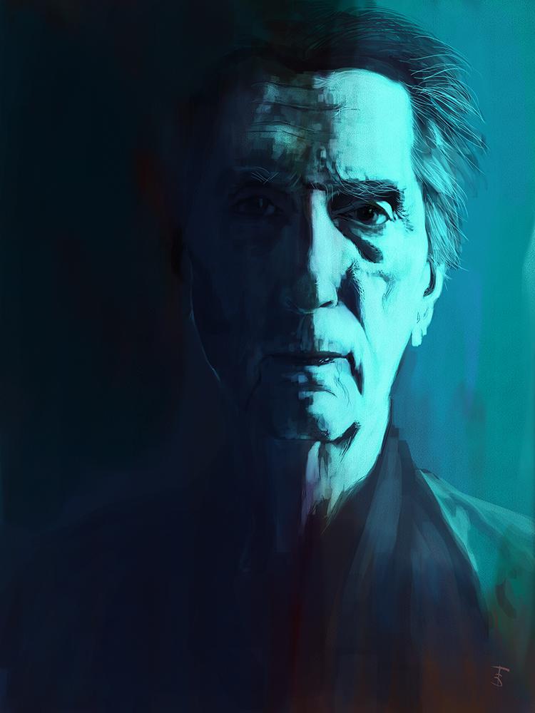 Harry Dean Stanton tribute portrait