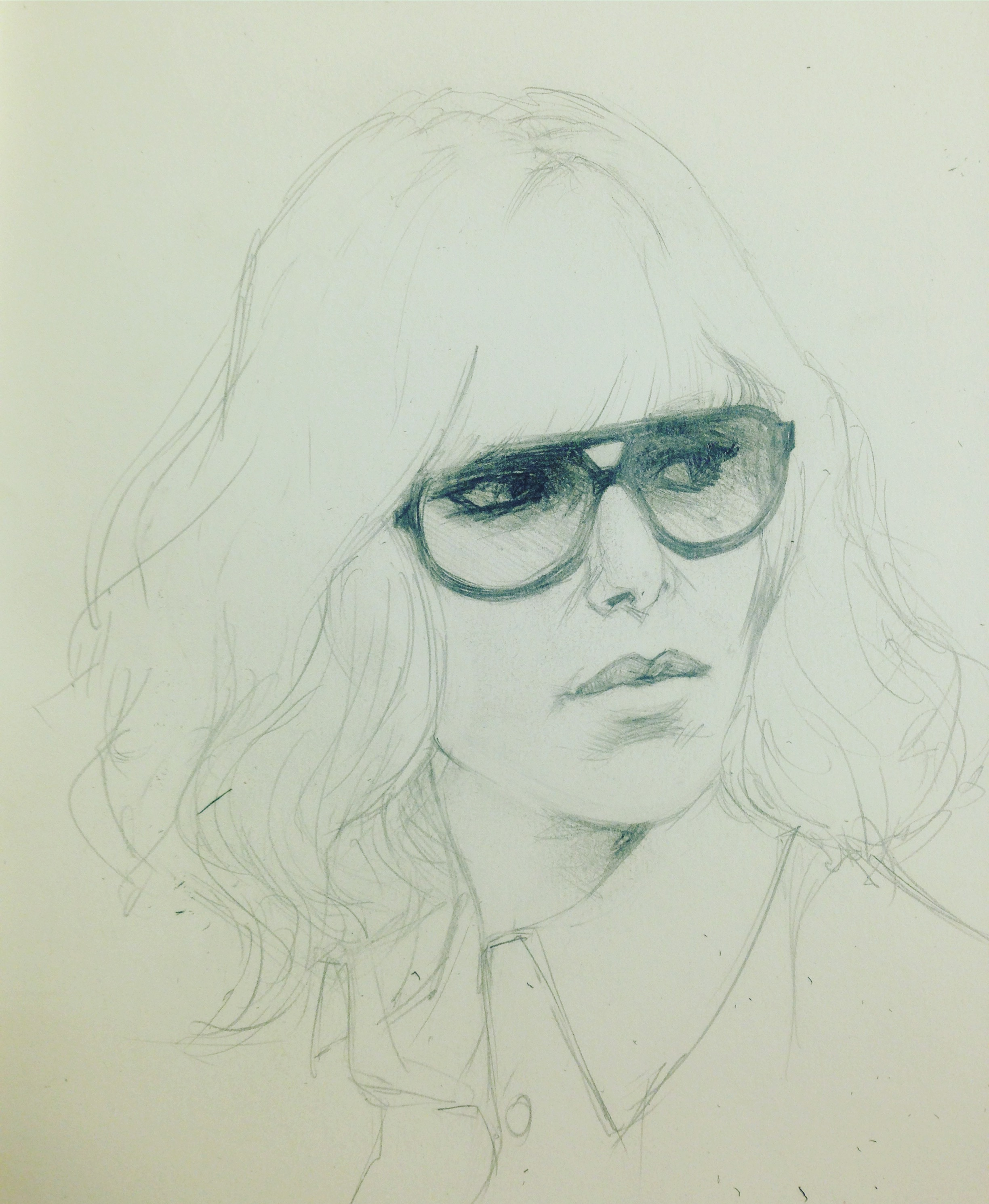 "Charlize in ""Atomic Blonde"" sketch."