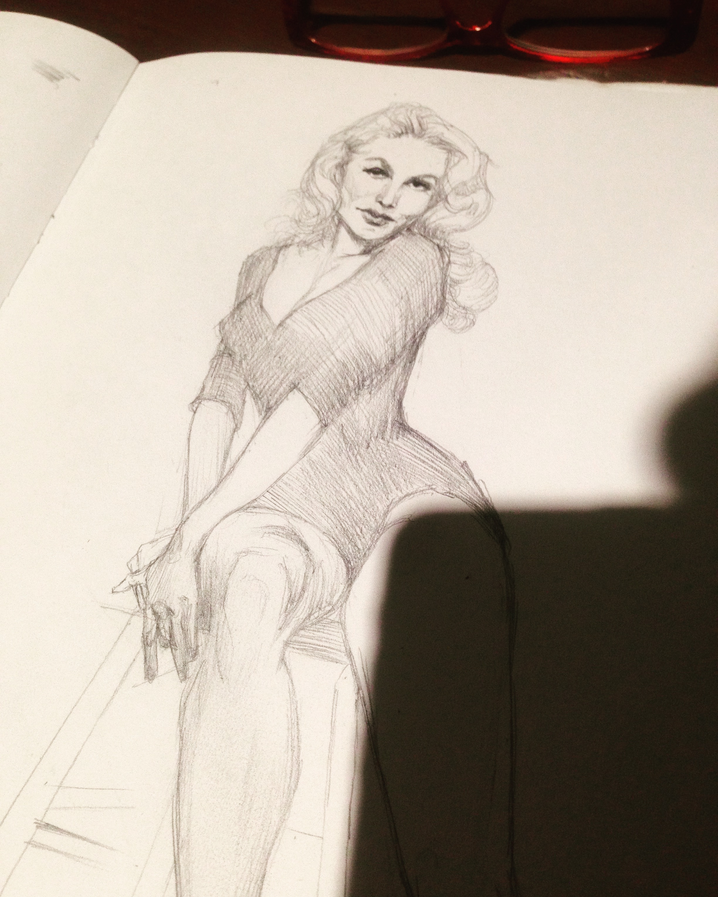 Julie Newmar pencil sketch