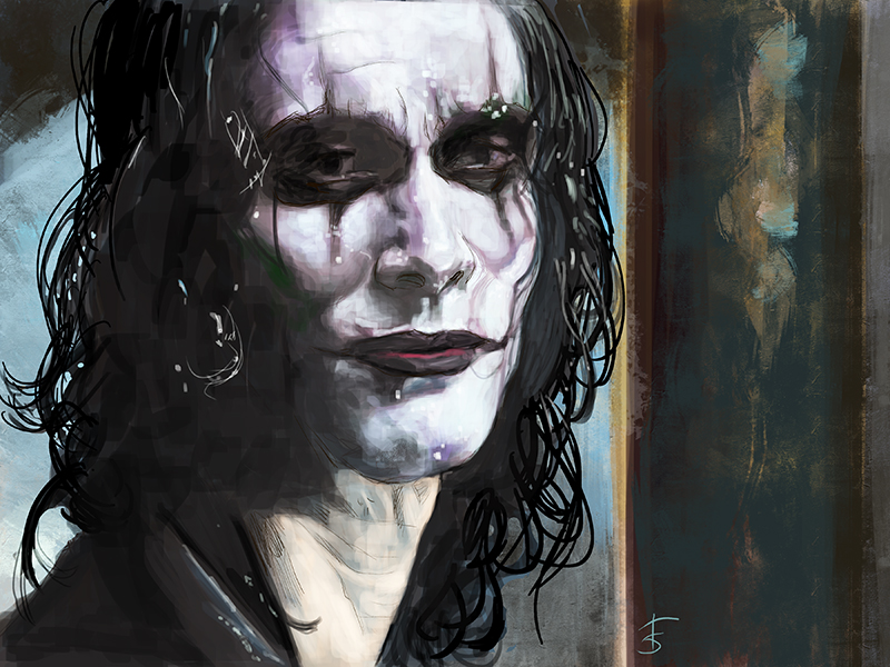 Brandon Lee. A tribute portrait, done today as we lost him twenty-five years ago, today.