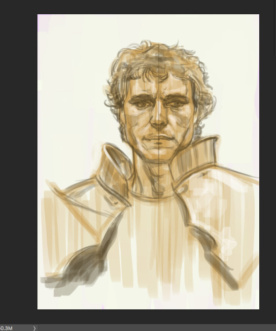 Nicholas Clay as Lancelot, sketch. Another quickie - a first pass. I'll finish this one.