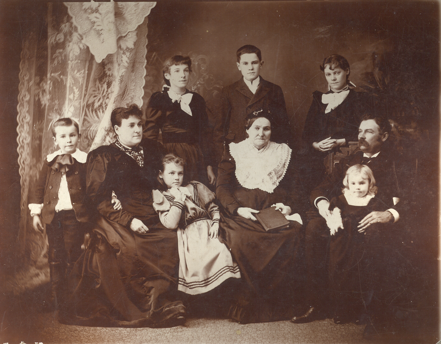 The Smith Family  (Leathem D. Smith shown on left)