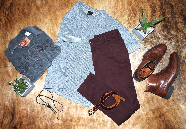 Jacket: Vintage  Levi Strauss  Cord Trucker | Shirt:  Zara  | Pants:  Zara  | Boots:  Stafford  | Belt:  Ralph Lauren  | Necklace: Bolo from Etsy