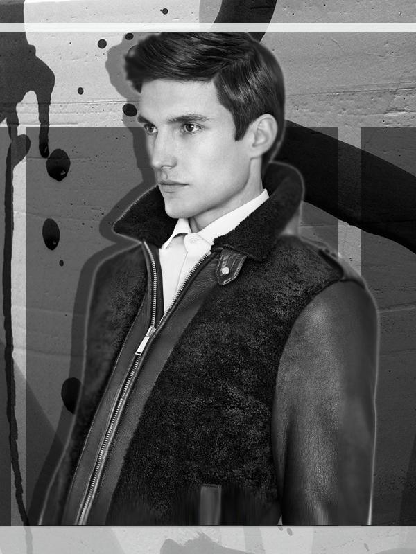 Shearling Deck Jacket in Black