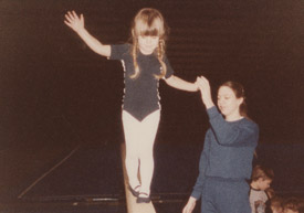 My early days at gymnastics.