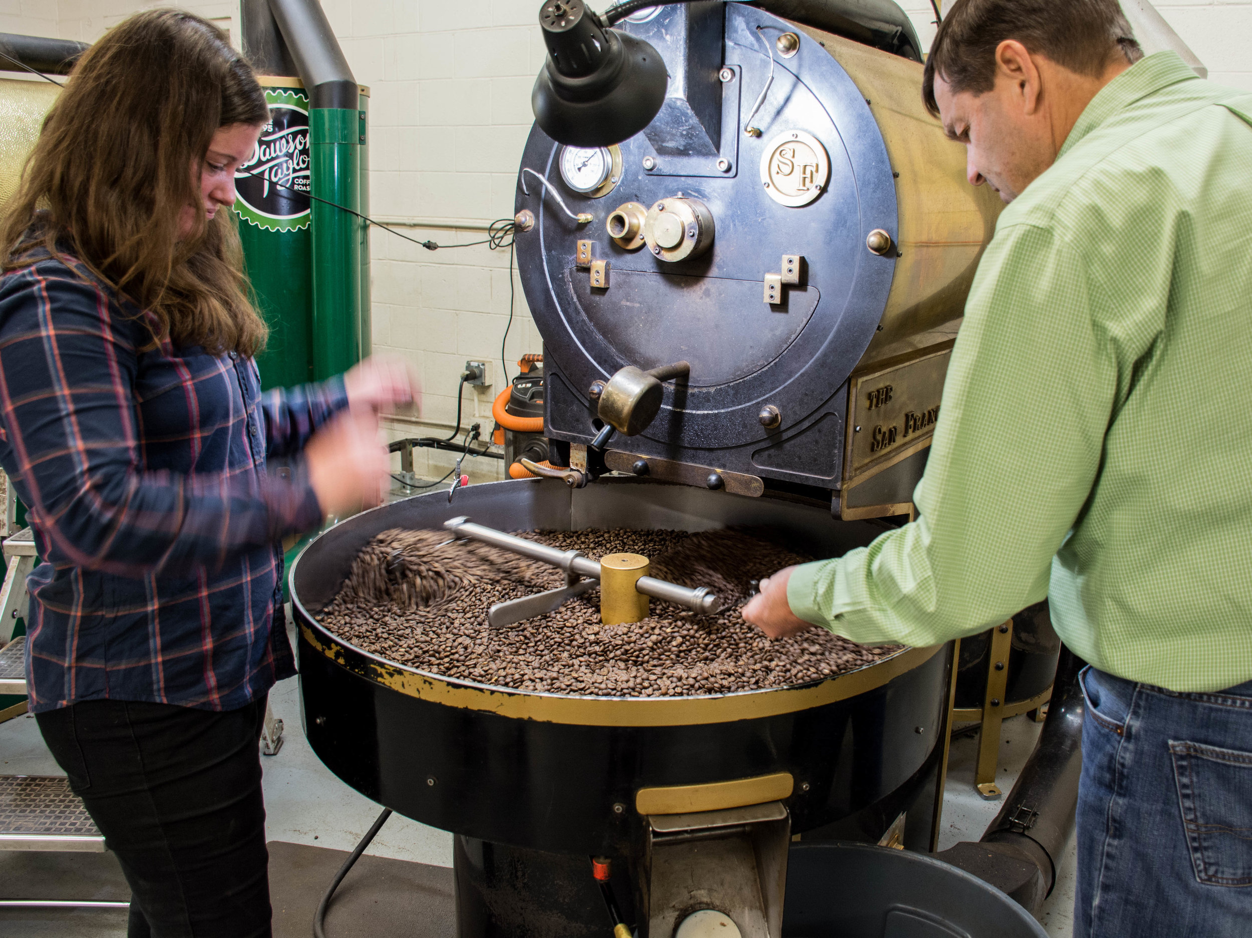 Checking the beans frequently ensures the perfect roast