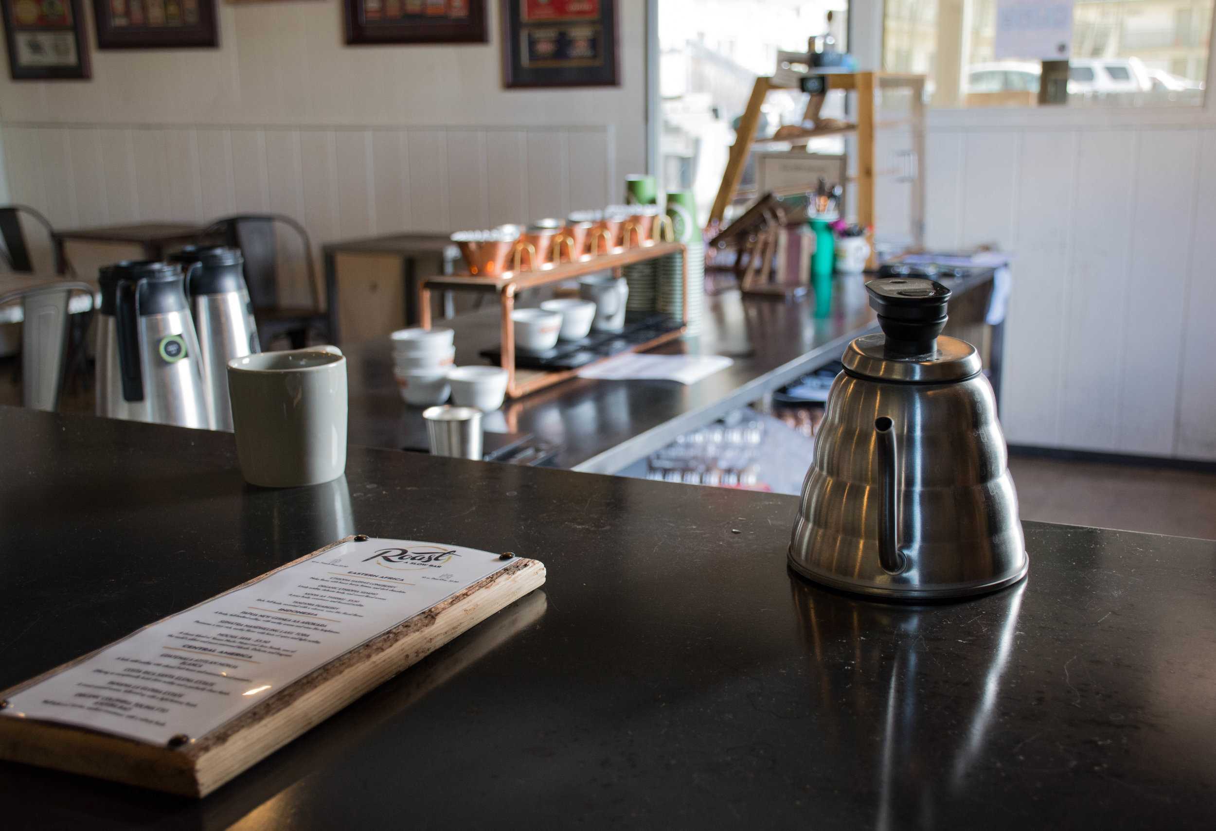 Dawson Taylor's pour over bar Roast opened last winter