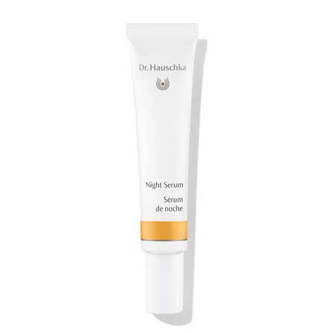 Dr. Hauschka Night Serum - Light and hydrating, this serum is made from Rose Apple blossoms. Full of pro-vitamin A, vitamin C and B1, B2 and B6, minerals and antioxidants, it is designed to be used at night with no other moisturizer. This enables the skin to breathe and detoxify. Do this and wake up with soft, toned and beautiful skin.