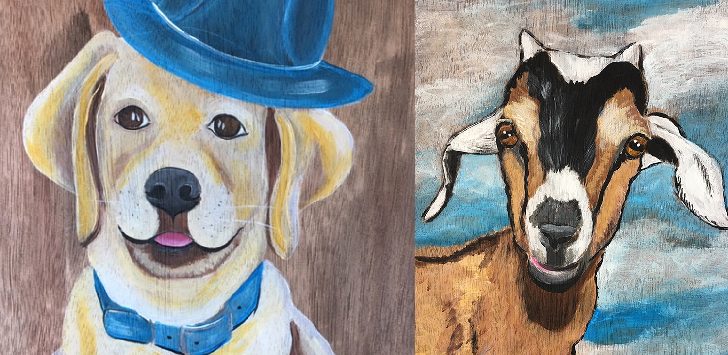 """Le Paint - Dip, Dab, Drink! @The Village   """"Paint Your Favorite Animal""""   Sign up here"""