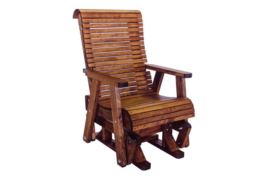 """Highback Glider Chair  24 3/4"""" W x 35"""" D x 43"""" H"""