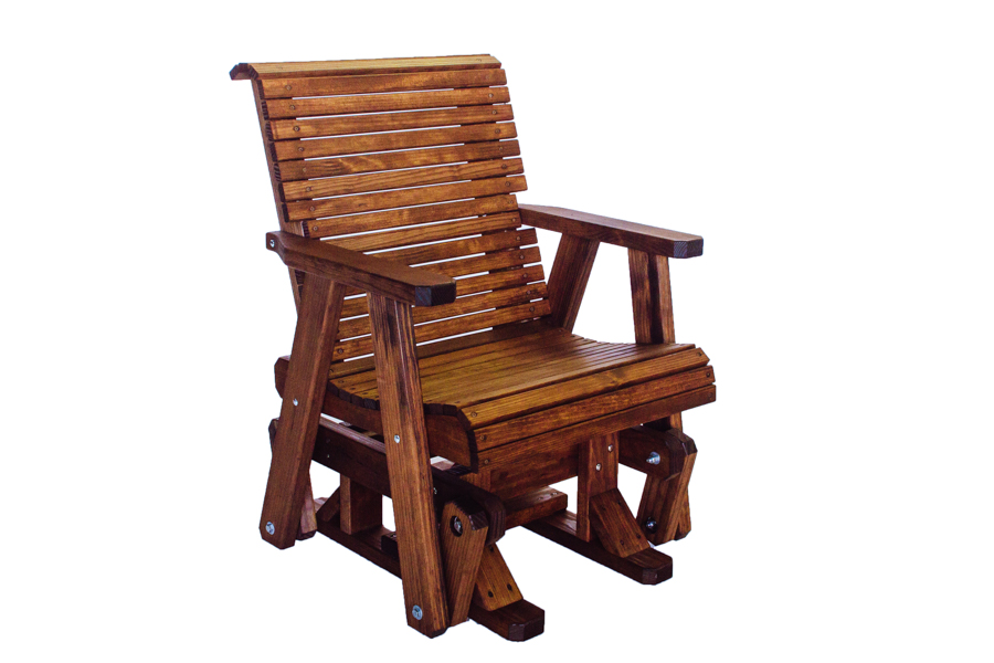 "Lowback Glider Chair  26 3/4"" W X   29  "" D X 37  "" H"