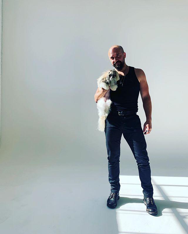 My partner in crime #lilb. 📸@bleedugly #shitzu #shitzusofinstagram #doglife #studioelevnafterhours #studioelevn