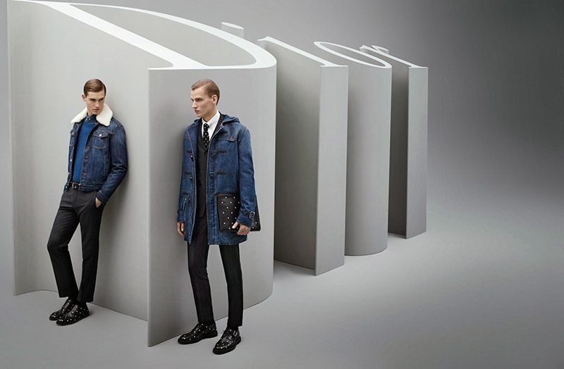Aaron Gatward, Alexander Van Der Stichele and Jason Anthony front the Fall/Winter 2014 campaign of DiorHomme, captured by the lens of Karl Lagerfeld.