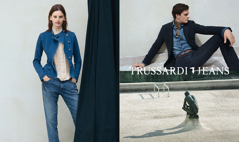 Matthew Terry fronts the Fall/Winter 2015 campaign of Trussardi Jeans, photographed byTalia Chetrit.