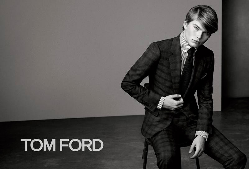 Jordan Barrett appears in the Fall/Winter 2015 campaign of Tom Ford, shot by Bjorn Iooss and styled by Michaela Dosamantes.