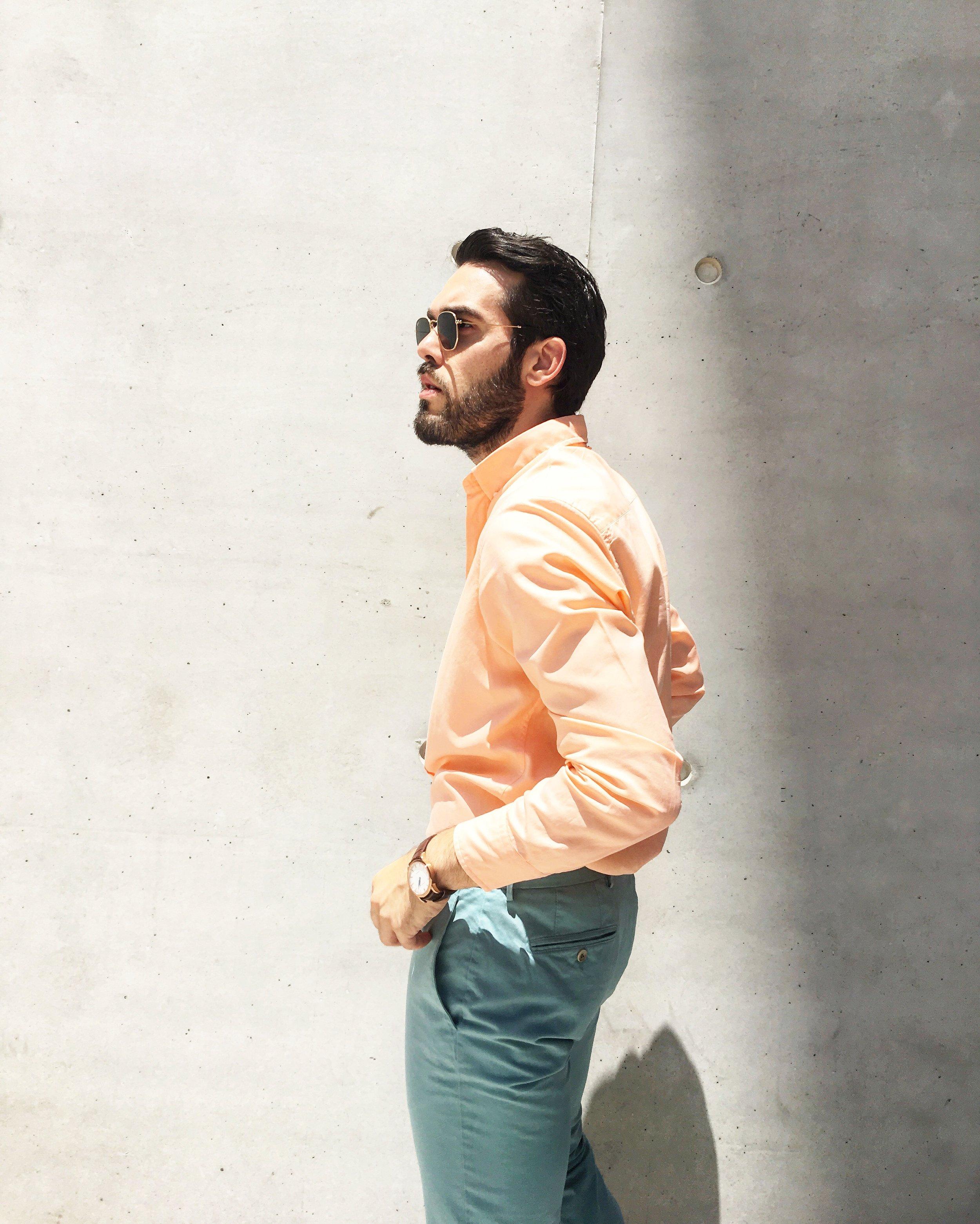 Total outfit: Hackett London / Watch: Corniche