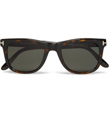 TOM FORD D-Frame Tortoiseshell Acetate Polarised Sunglasses