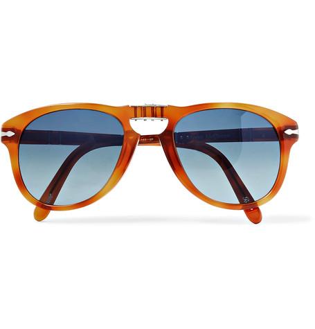 PERSOL Steve McQueen Folding D-Frame Tortoiseshell Acetate Polarised Sunglasses