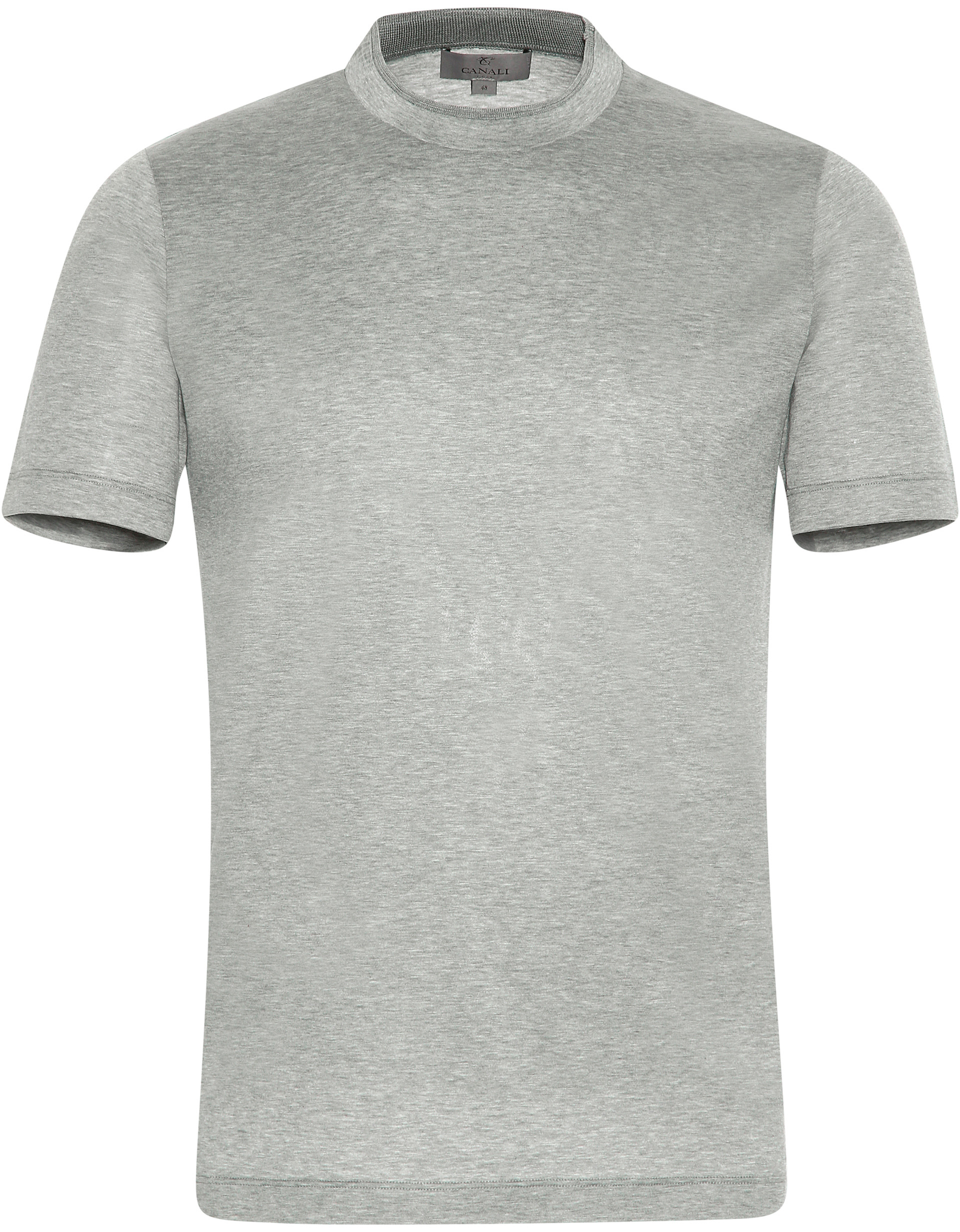 GRAY MERCERIZED COTTON T-SHIRT