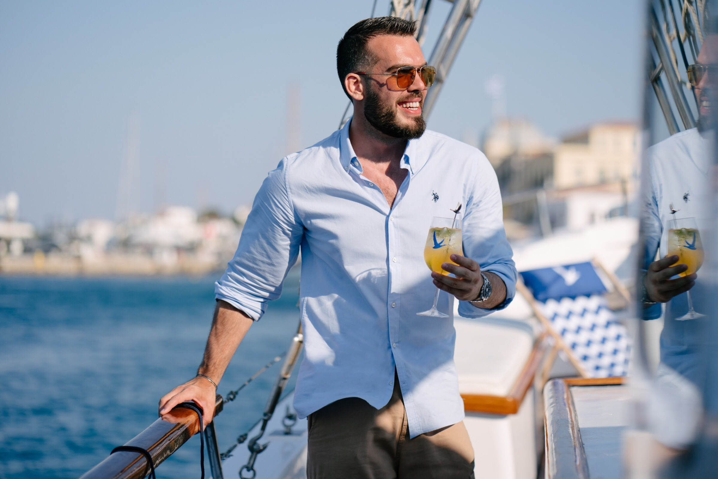 Pasquale Karatzetzo - Gentlemans Diary Magazine - Grey Goose Live Victoriously Greece - Spetses Classic Yatch Regatta 2019