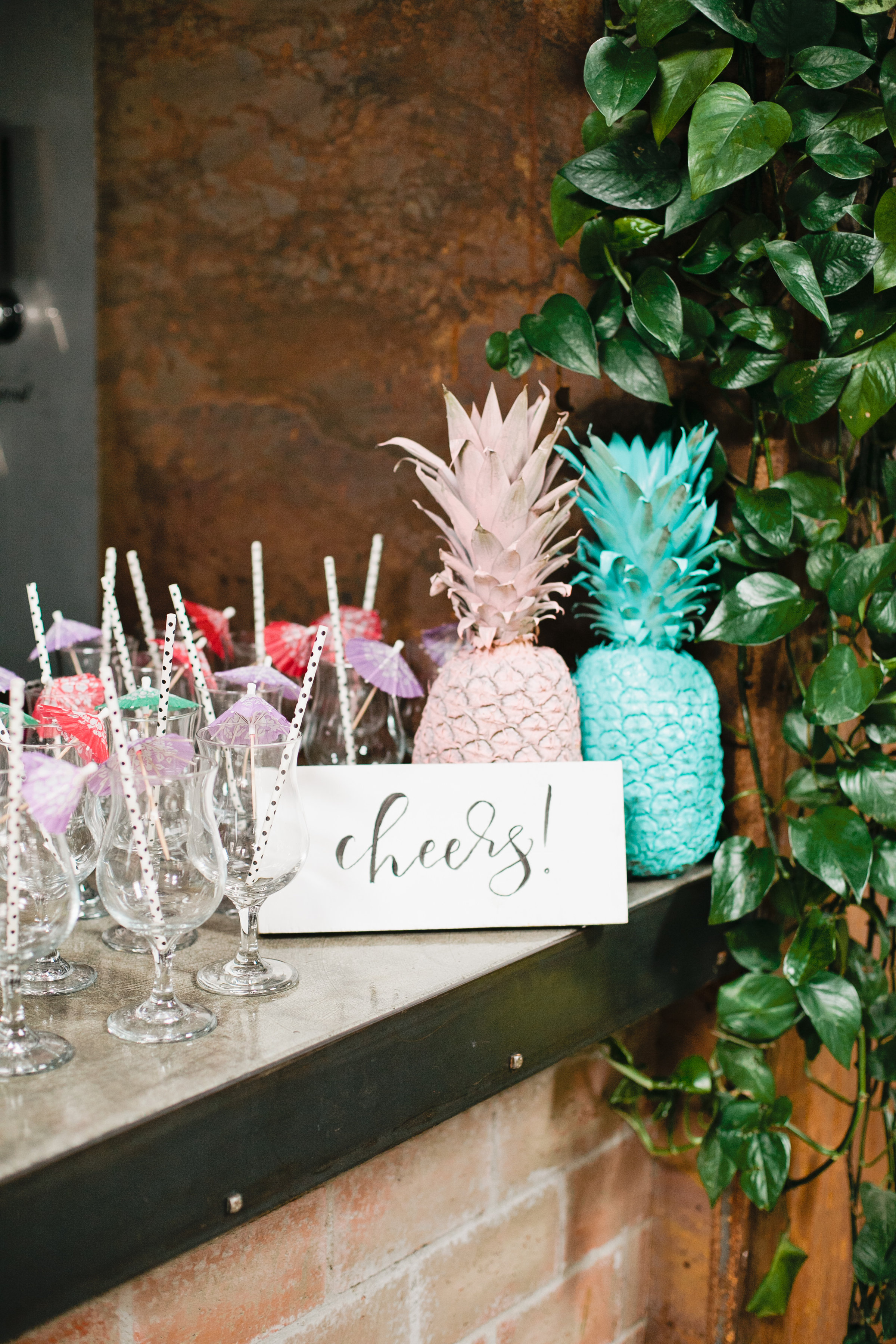 Modern, Tropical Girl's 1st Birthday Party